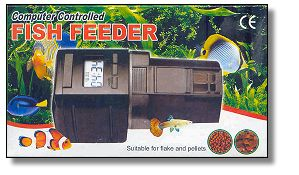 Computer controlled fish feeder