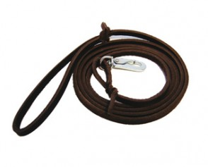 Slim leather leash, 0.6 & 1.2 x 180 cm with BGB hook