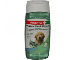 Vetzyme shampoo for puppies and kittens