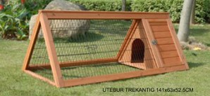 Outdoor cage wood triangular 141x63x52.5 cm