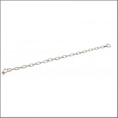 Short straight link matte steel 3mm