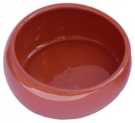 Sandbath with antispiller edge, terracotta