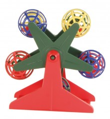 Bird toy wheel with balls 10 cm