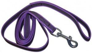Anti-slip leash 2x190 cm with handle and carabin hook