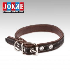 Leather collar with reflective, Supercoco