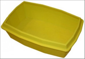 Cat litter with edge 47 x 31 x 11 cm