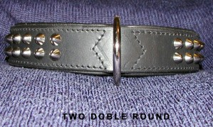 Rivet collar, rounded studs