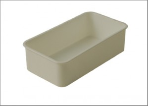 Food bowl white plastic