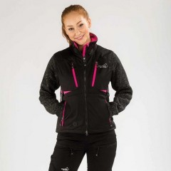 "Arrak vest softshell ""Acadia"", women, pink / black"