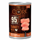 Core turkey and kale, soft food for dogs 400g