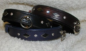 Collar with diamonds and rhinestones