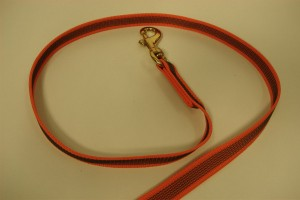 Antiglide leash 2 x 300 cm without handle red with brass hook