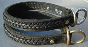 Whole throttle leather with braid