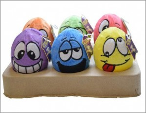 Plush eggs with spout