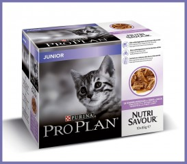 Proplan Junior cat wet food turkey 10 x 85g