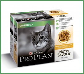 Proplan Sterelised cat wet food Chicken 10 x 85 g