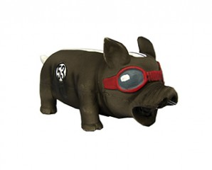 Latex pig with original sound racing