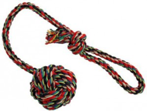 Rope ball with handle