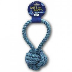 Rope ball with short handle 8 cm