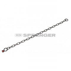 Black stainless steel chain with short links, 3 mm