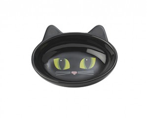 Oval cat bowl black or white