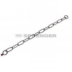 Black stainless steel chain with long links, 4mm