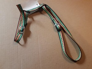 Rabbit or cat harness, neon pattern