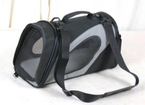 Carrying case, sloping, black and gray