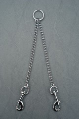 Twin leash, 2mm x 20cm